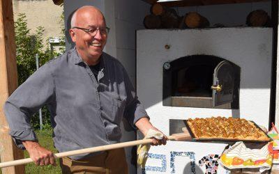 Auch die schwäbische Pizza kam aus dem Ofen